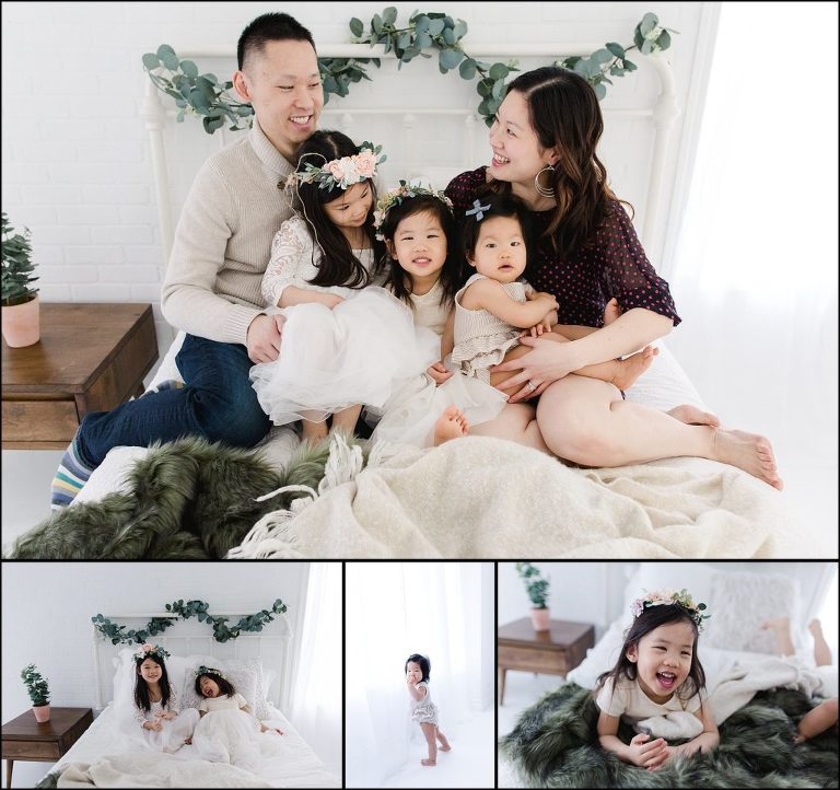 Chicago Family Photographer White Photo Studio