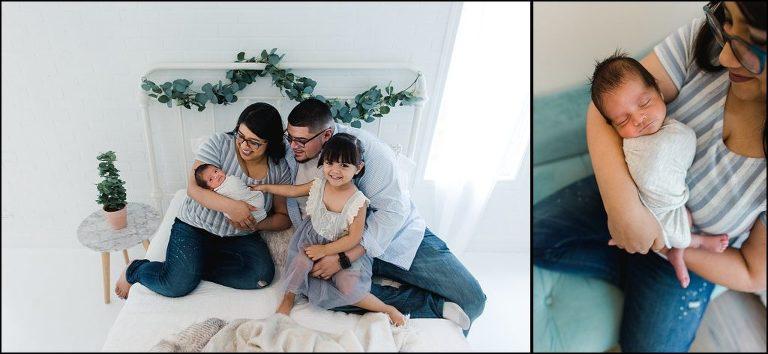 Chicago Family Photographer white Studio