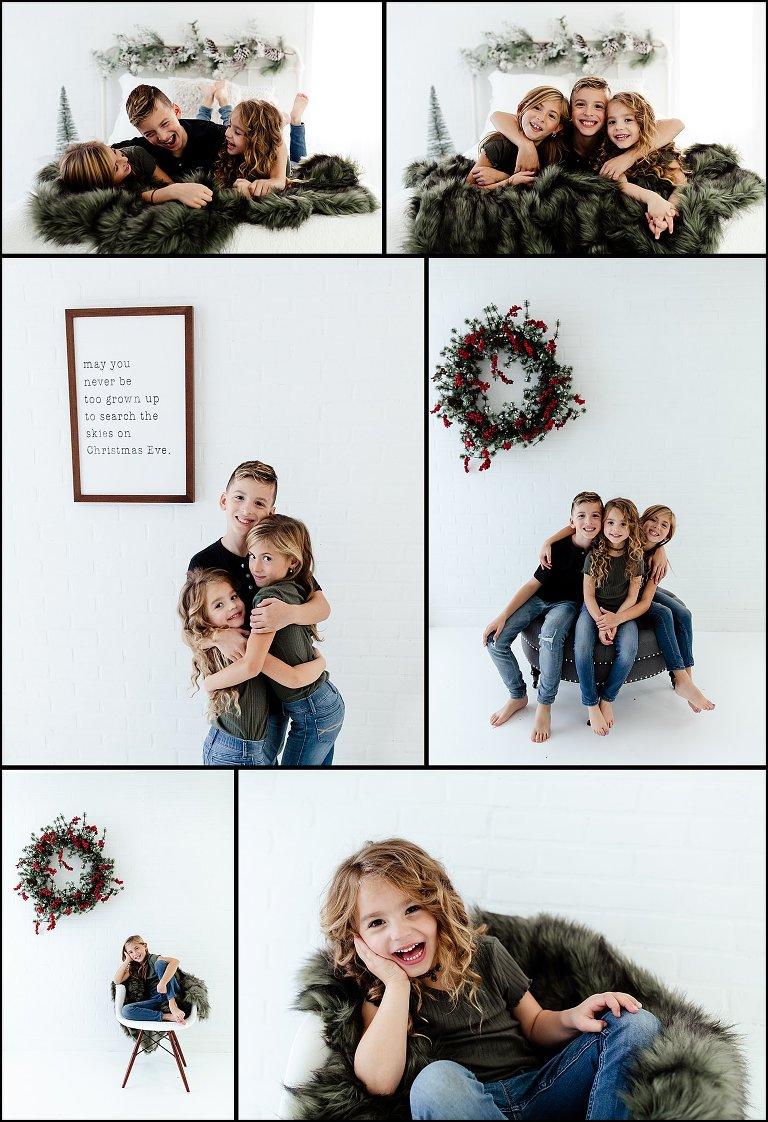White Photography Studio Holiday Mini Session