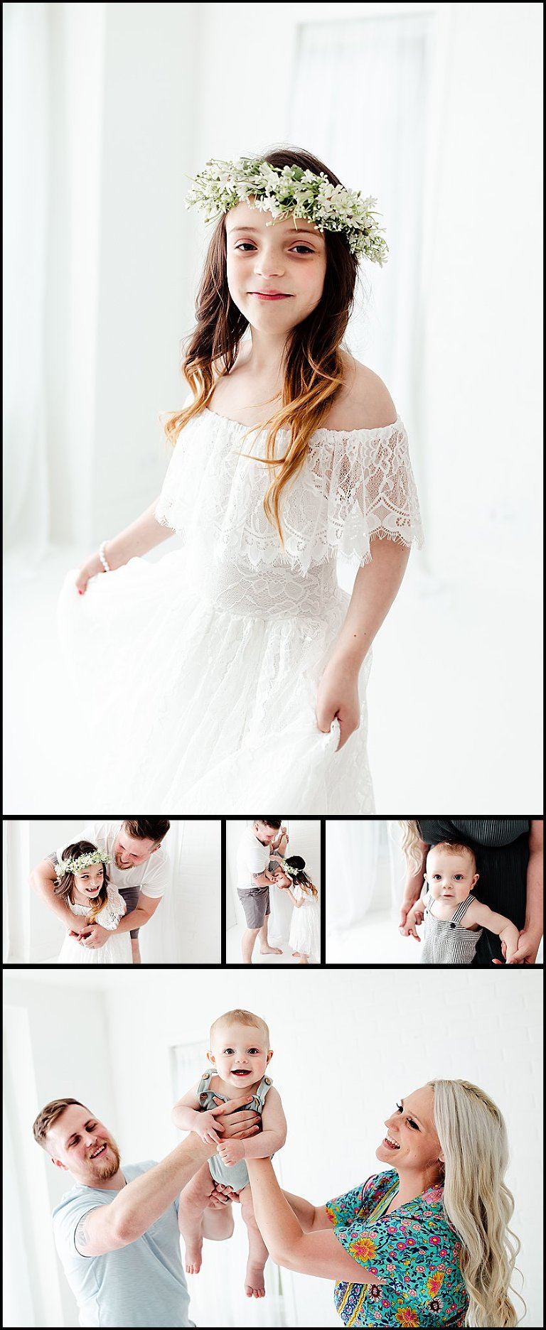 White Studio Photography Session